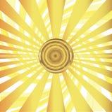 Солнце с иллюстрацией вектора sunrays Стоковые Фотографии RF
