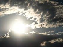 Солнце с облаком Стоковая Фотография