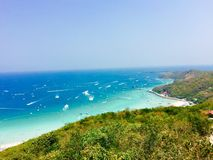 солнце Таиланд остальных дня купая пляжа стоковое изображение