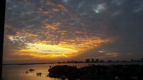 Солнце устанавливая сверх Стоковая Фотография