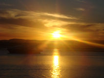 Солнце установило в Австралию Стоковое Изображение