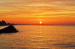 Солнце установило в sae Стоковое Изображение