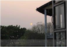 Солнце установило как раз начало Стоковое фото RF
