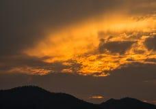 солнце установленное в Таиланд Стоковые Фотографии RF