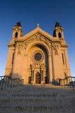 Солнце утра на соборе St Paul. St Paul, Минесота, США стоковое изображение