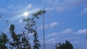 Солнце фонарного столба Стоковая Фотография RF