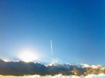 солнце через облака в Санкт-Петербурге Стоковая Фотография RF