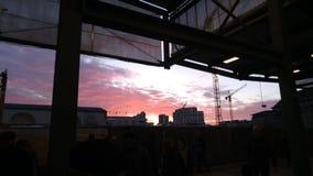 Солнце Штутгарт вечера Стоковое Фото