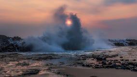 Солнце Peeking до конца Стоковые Фото