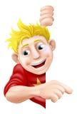 Содружественный указывать молодого человека или мальчика Стоковая Фотография RF