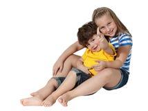 содружественный hug Стоковые Изображения RF
