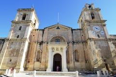 Со-собор St. John в Valleta, Мальте Стоковое Фото