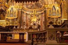 Со-собор St. Johns, Мальта Стоковая Фотография