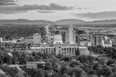 Солт-Лейк-Сити, Юта на ноче Стоковое Фото