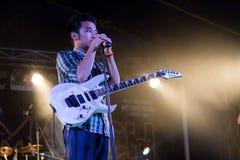 Сольная певица и гитарист стоковая фотография