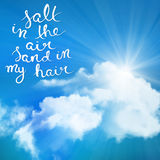 Соль в воздухе Стоковое Изображение