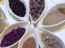 Соль в различных положениях Стоковые Фотографии RF