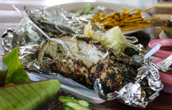 соль зажженное рыбами Стоковое фото RF