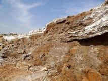 Соль мертвого моря на Джордане Стоковая Фотография RF