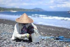 Соль моря делая деревню Стоковые Изображения RF