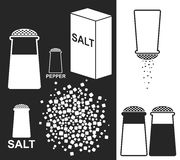 Соль. Перец Стоковые Изображения RF