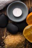соль померанца ванны Стоковое Изображение