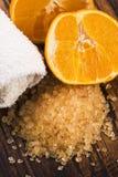 соль померанца ванны Стоковое фото RF