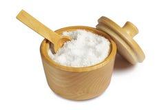 Соль с ложкой в шаре Стоковая Фотография
