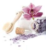Соль для принятия ванны в botle Стоковое Фото