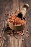 Соль для принятия ванны шоколада стоковое изображение