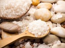 Соль для принятия ванны. Стоковое фото RF