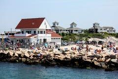Солёный пляж положения рассола, Narragansett, RI Стоковая Фотография RF