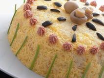 Солёный торт блинчика Стоковые Фото