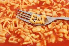 Спагетти алфавита Стоковая Фотография RF
