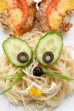 Спагетти в форме зайца Стоковые Фотографии RF