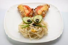 Спагетти в форме зайца Стоковая Фотография RF