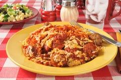Спагетти и фрикадельки стоковое фото