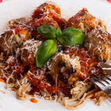 Спагетти и фрикадельки Стоковые Фотографии RF