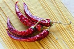 спагетти красного цвета перца chili Стоковое Изображение RF
