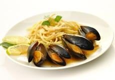 спагетти мидий Стоковое фото RF