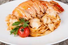 Спагетти омара, итальянская кухня Стоковое Фото