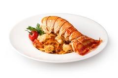 Спагетти омара, итальянская кухня Стоковые Фото