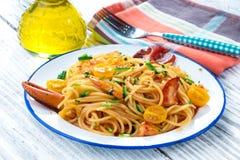 Спагетти омара Стоковое Изображение RF