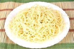 спагетти плиты Стоковое Изображение