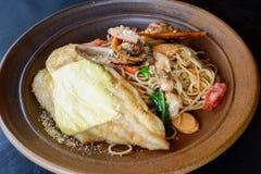 Спагетти продукта моря Стоковые Изображения RF