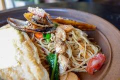Спагетти продукта моря Стоковое Изображение