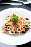 спагетти продуктов моря Стоковое Изображение RF