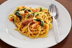 спагетти продуктов моря Стоковая Фотография