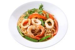 спагетти продуктов моря Стоковые Фотографии RF