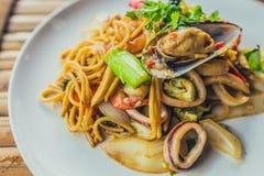 спагетти продуктов моря Стоковые Изображения RF